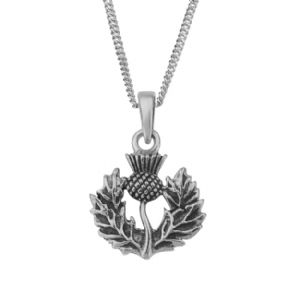 Scottish Thistle Silver Pendant 'Ailsa' 0891